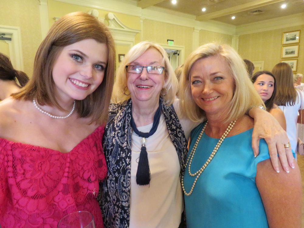 Leighton Weber, Nancy Tullos and Sara Weber