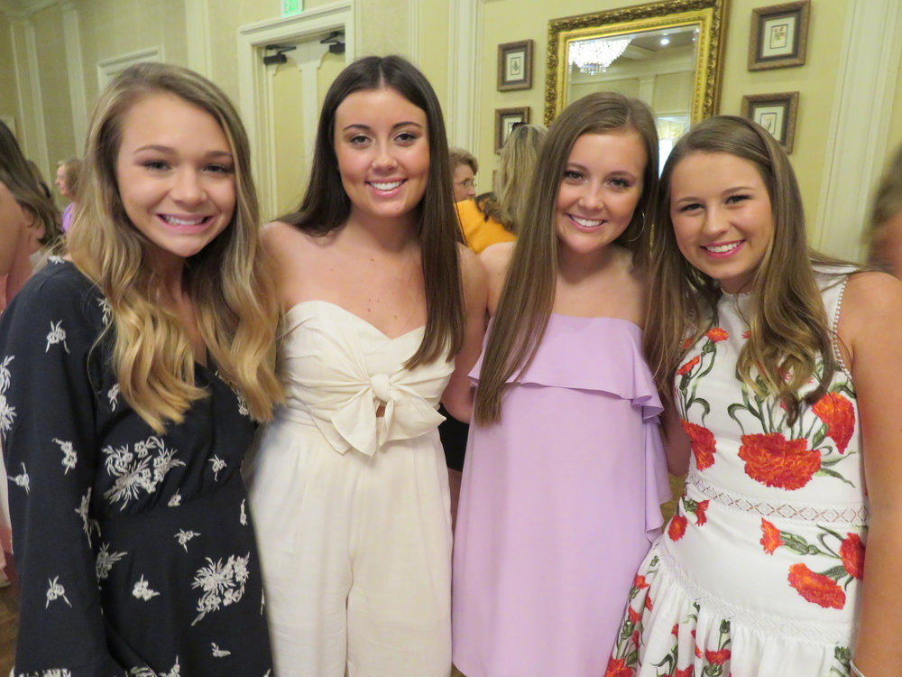 Addison Rogers, Mary Claire Paddock, Sarah Jane Paddock and Baylee Swanson