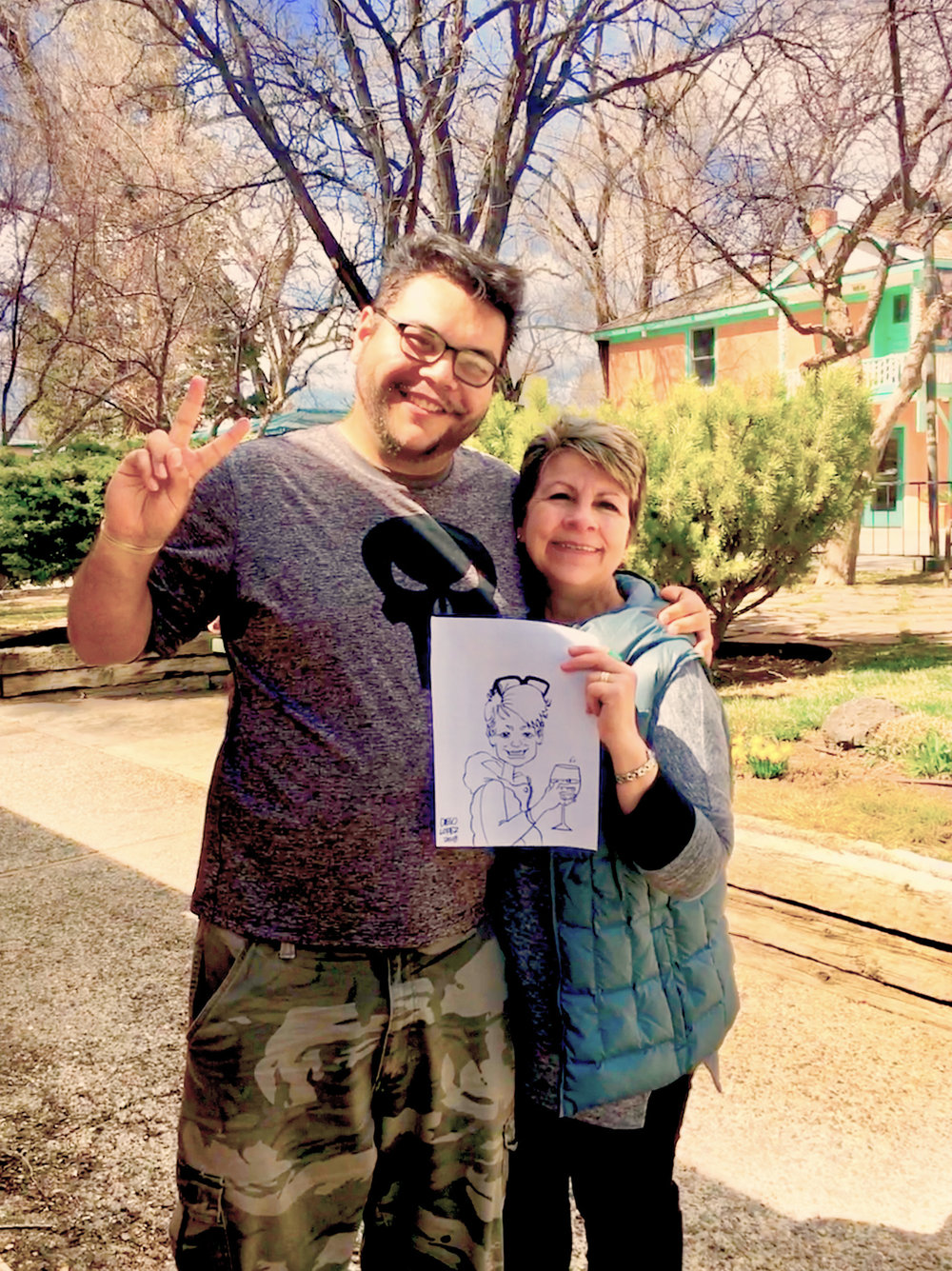 A huge arts supporter, Agnes enjoyed visiting with a local artist while in Taos, New Mexico, this past March.