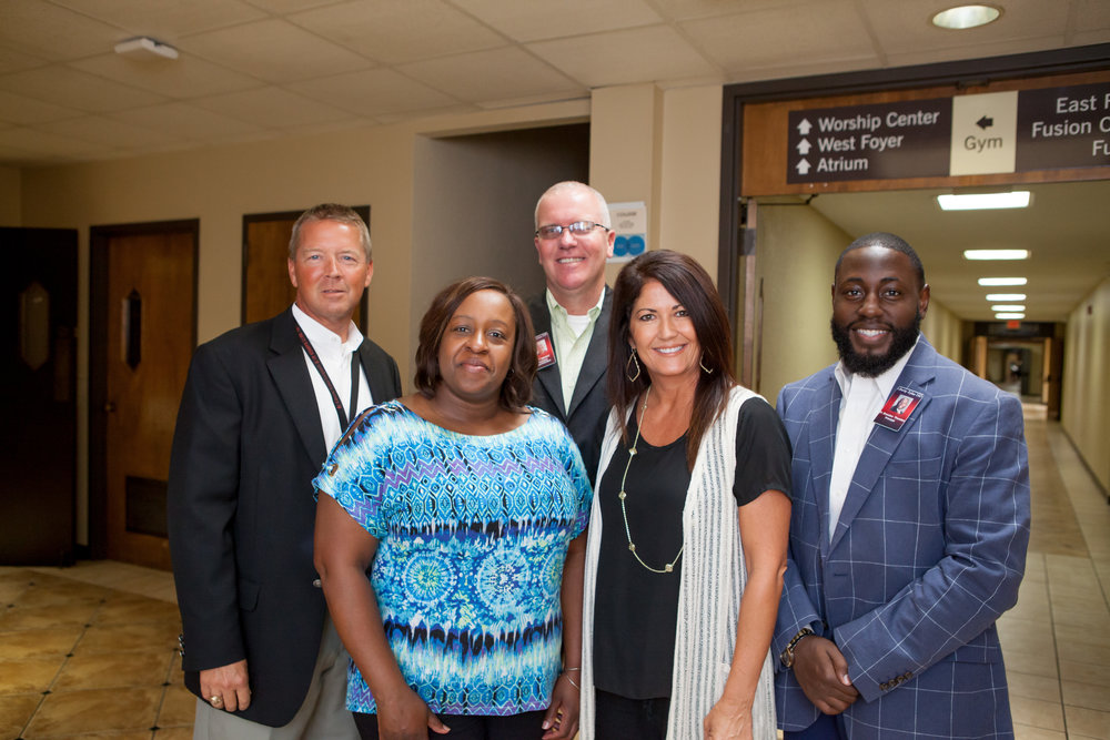 Ronnie Thompson, Dr. Ceretha Levingston, Jeff Wright, Amy Norwood and Dr. Brandon Thurston