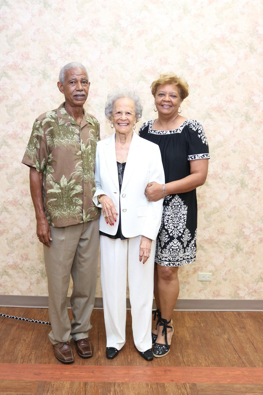 Ray Bursey, Berthelmes Bursey and Dorelya Dillard