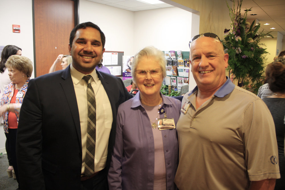 Dr. Omar Ishaq, Sister Jeanne and Mike Riley