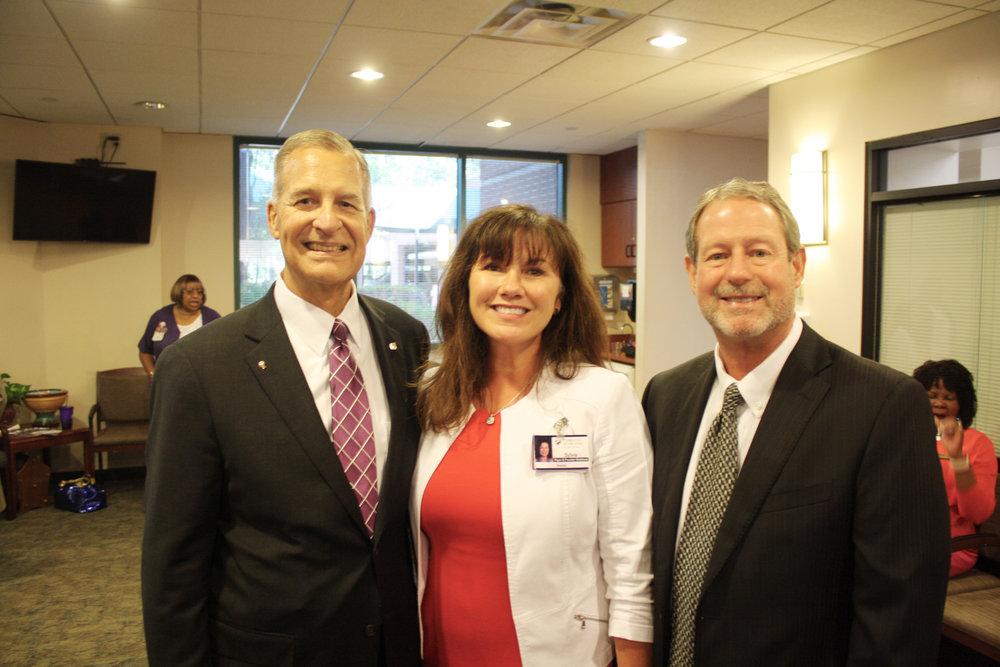 Jim Pomeroy, Sylvia Harrison and Mike Ingram