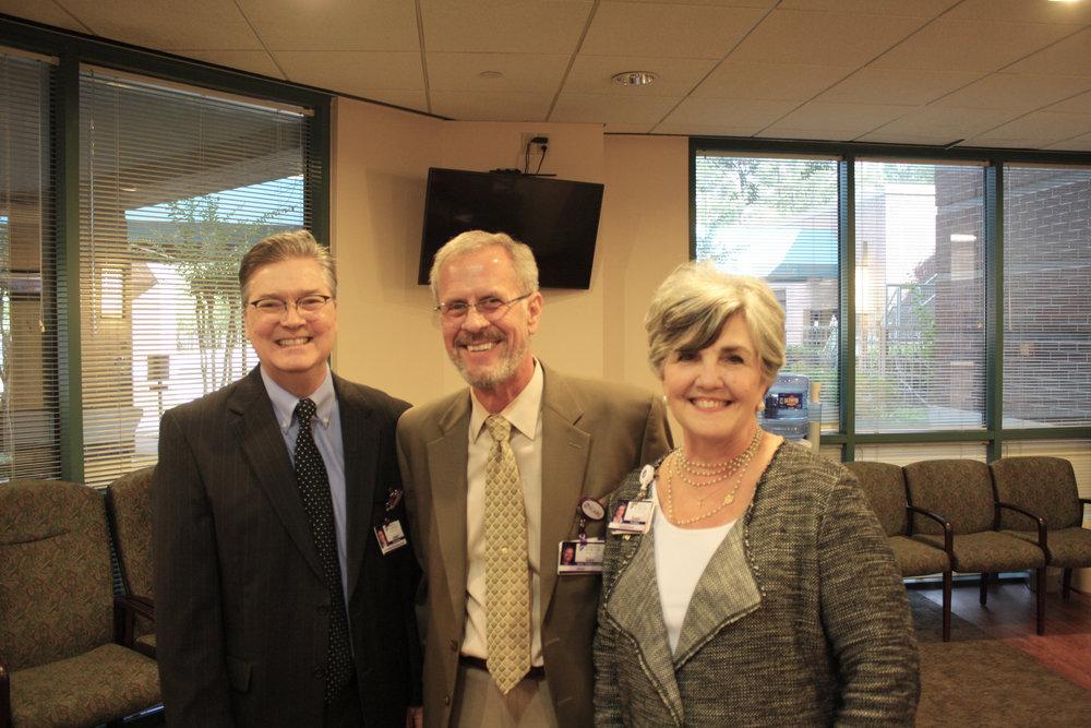 Jason Rounds, Gary Upp and Susan Landreaux