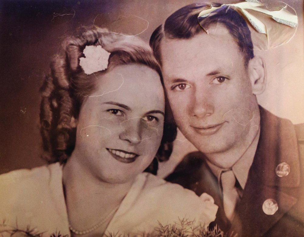 Don and Lilly met in Frankfurt, Germany, in 1947, while he was stationed there in the United States Army.