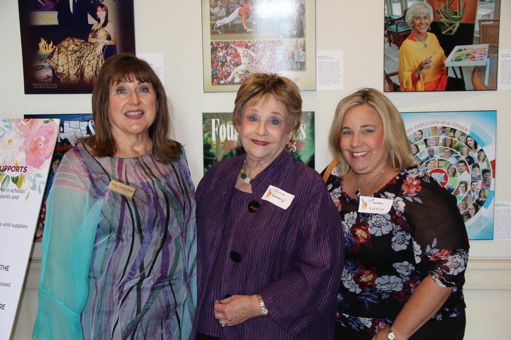 Claudia Snow, Janis Robbins and Susan Robbins
