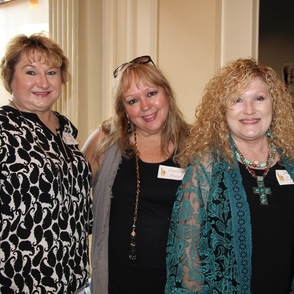 Nancy Robbins, Charlotte Hueter and Cindy Simmons