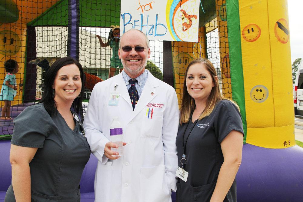 Sarah Robinson, Dr. Mark Wren and Cara Jones