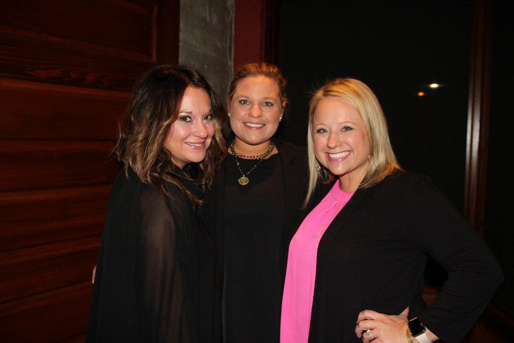 Julianna Register, Claire Showmaker Moulton and Amber Gideon Stewart