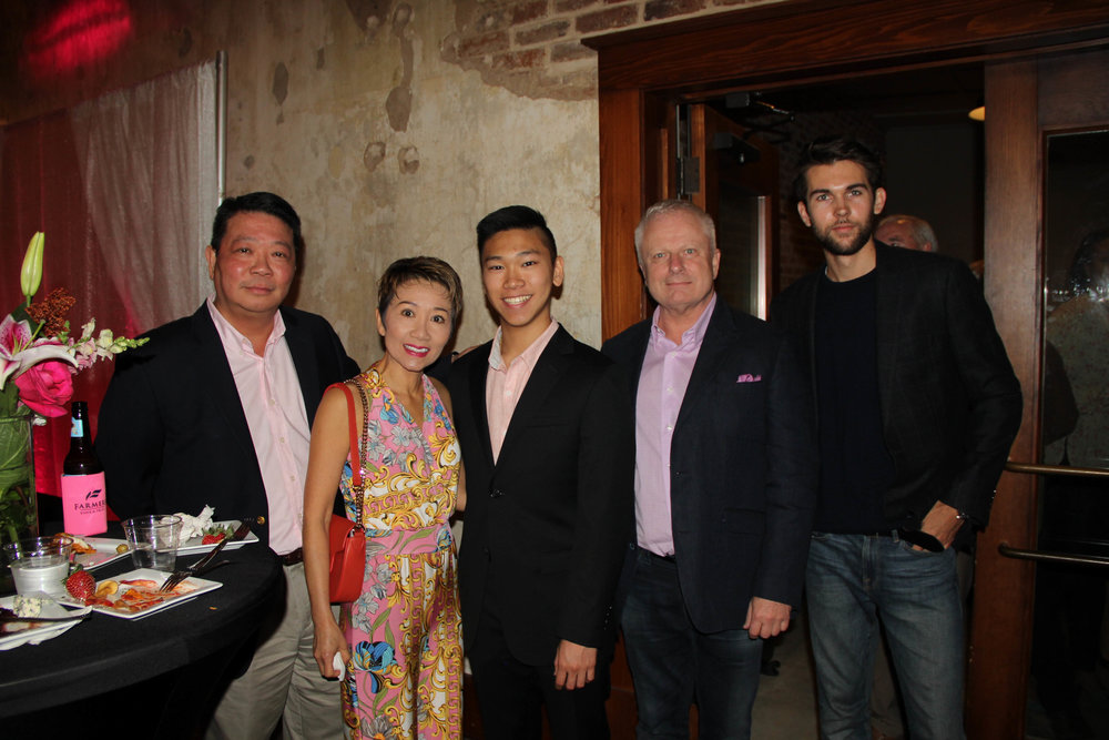 Dr. Anthony and Deanna Tran with Adrian Tran, Jeff Brown and Chandler Murphy