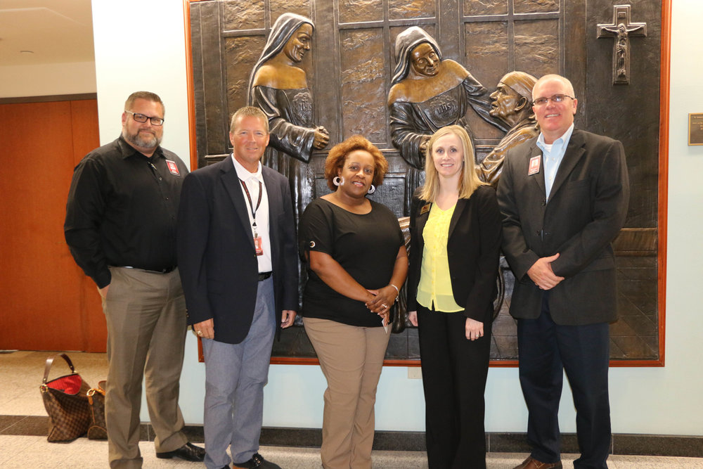 Matt Fry, Ronnie Thompson, Dr. Ceretha Levingston, Ashley Aylett and Jeff Wright