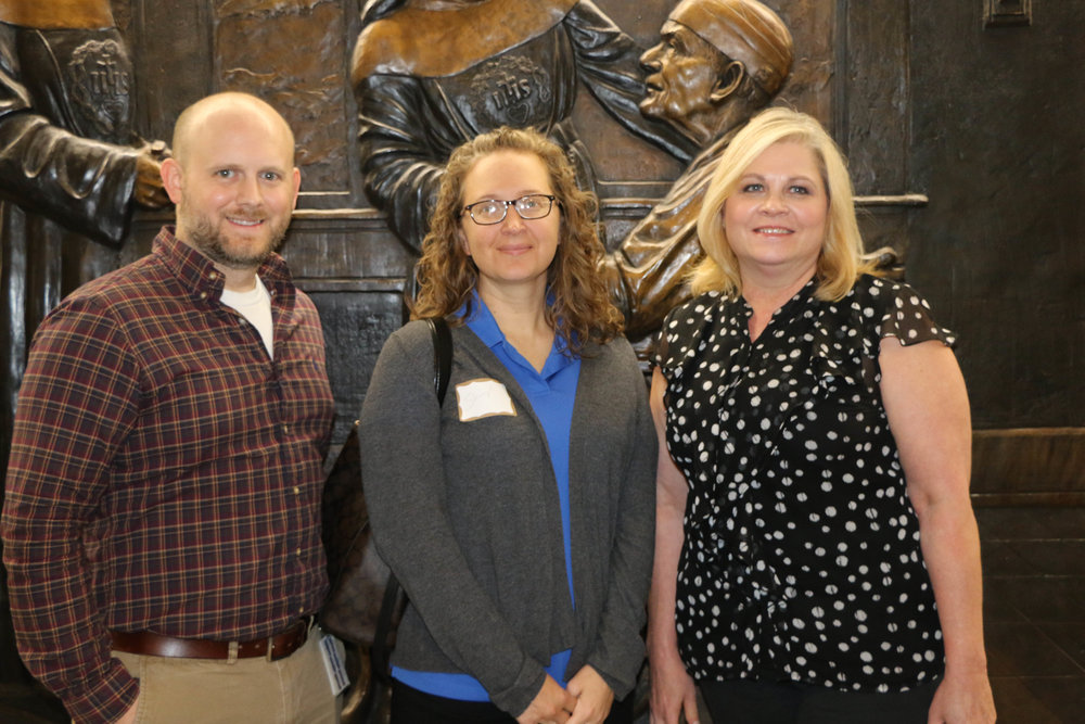 Blake Aubrey, Sheryl Porter and Rosemary Weems