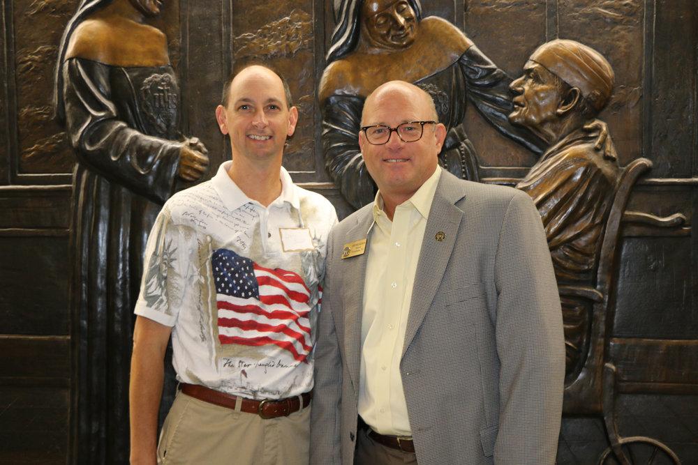 Darin Powell and Mayor Bob Bruggeman