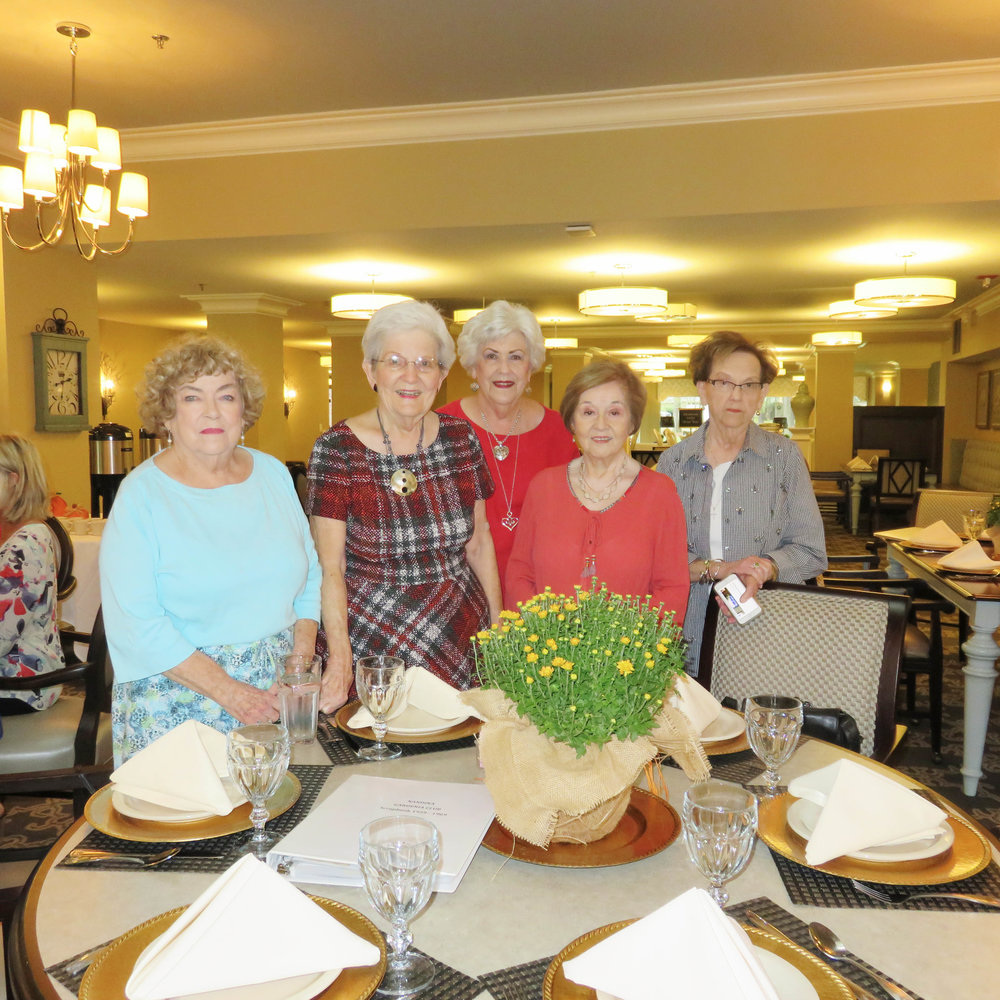 Peggy Patton, Jean Crain, LaJuan Martin, Gladys Stanley and Doris Goodson
