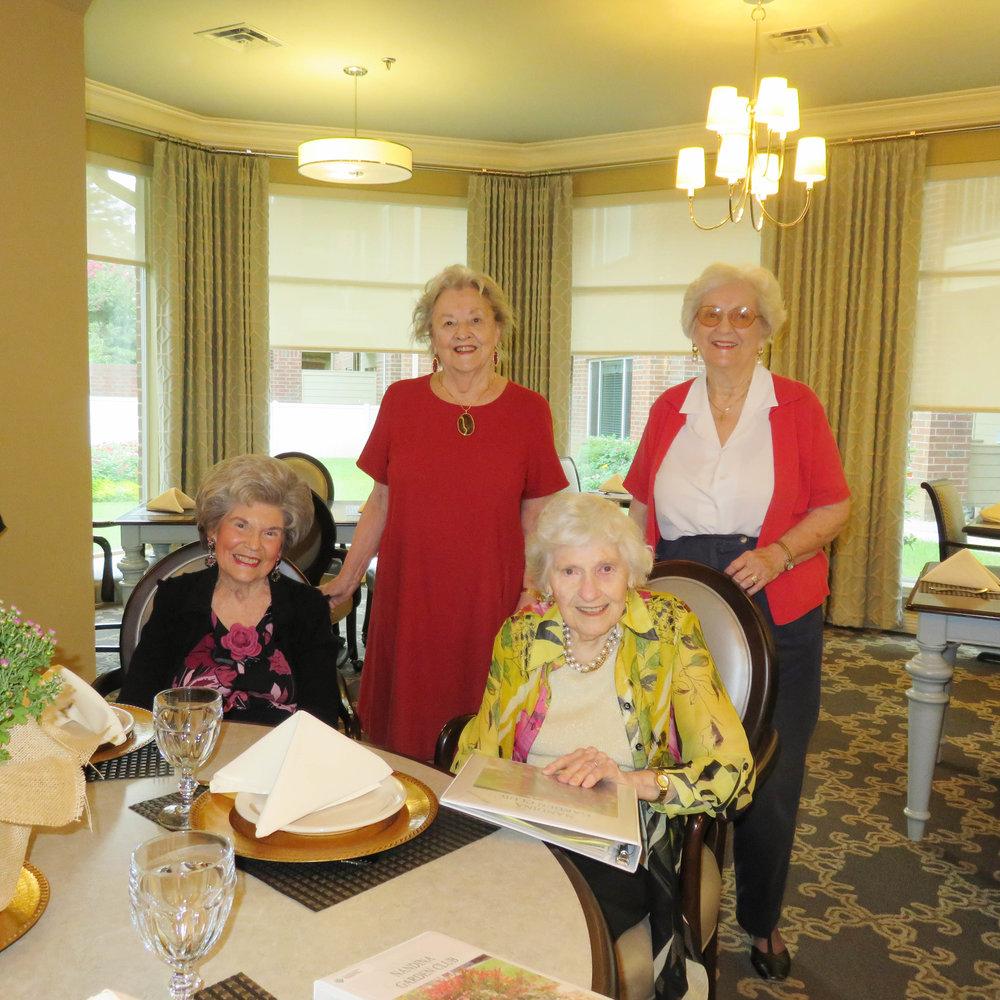 Dorothy Griffin, Pam McCoy, Arlene Shields and Gerane McWilliamns