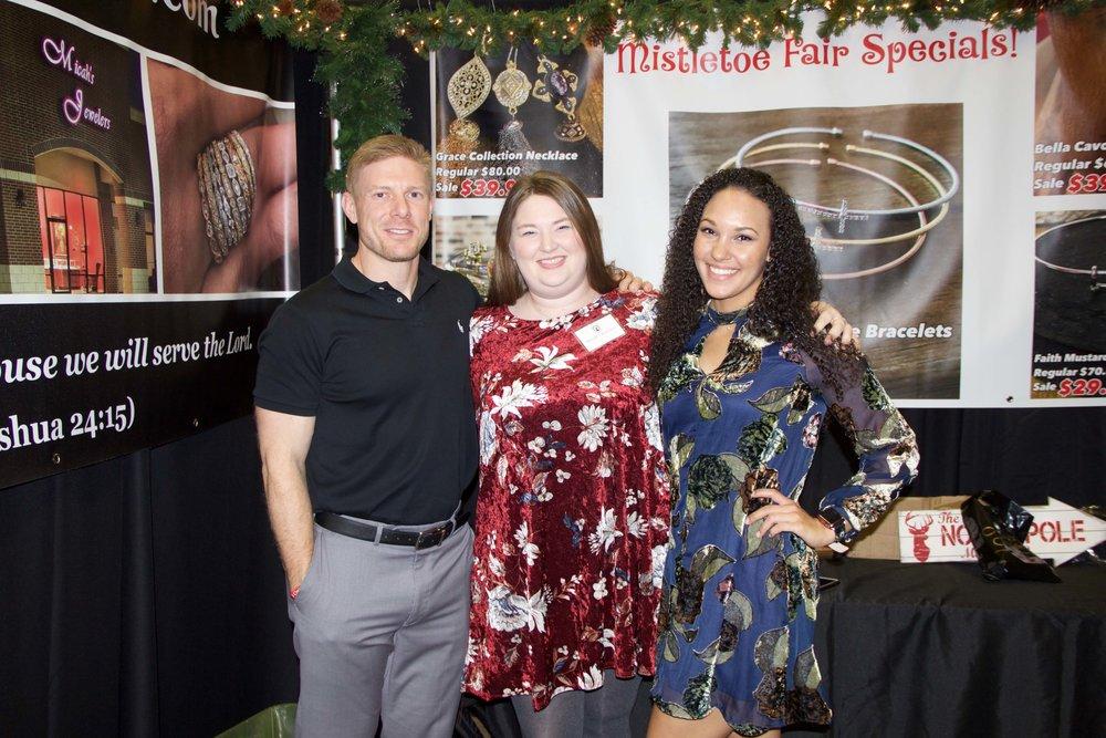 Micah Harp, Kayla Smith and Constince Brown