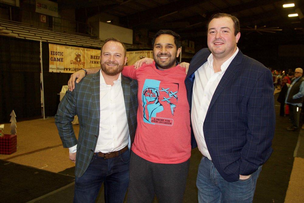 Blake Rich, Dr. Omar Ishaq and Tommy Dixon