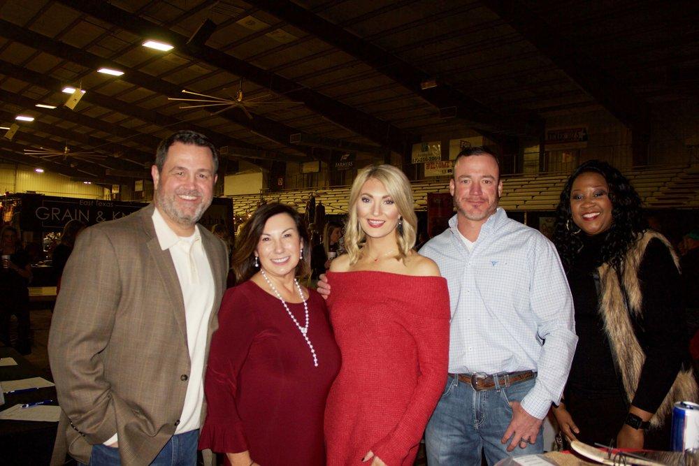 Jamie and Robbin Bass, Felicia and Jacob Horn and Dr. Joyce Busch