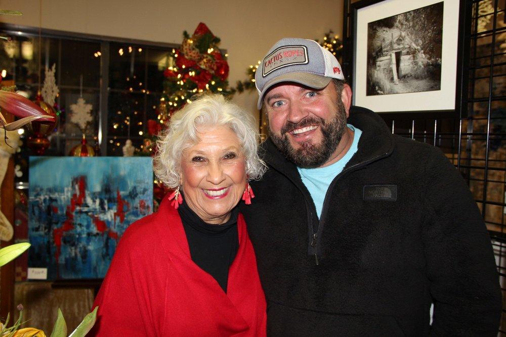 Carol Hoffman and Kyle Barrett
