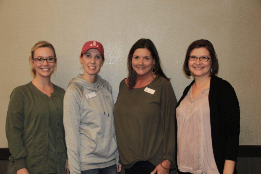 Kelsey Kuhn, Stephanie Adcock, Jeanna Morris and Emily Ransom