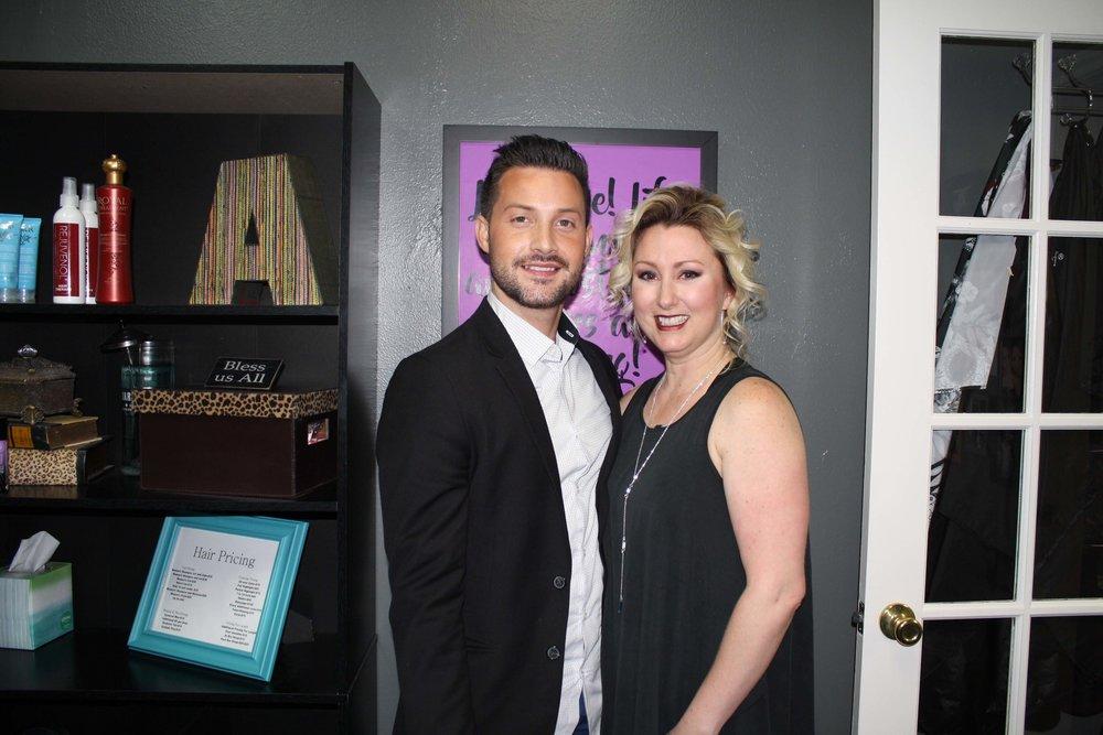 Brandon Dixon and Patty Lynn