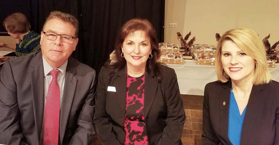 Steve Collier, Cindy Marsh and Stefanie Brazile
