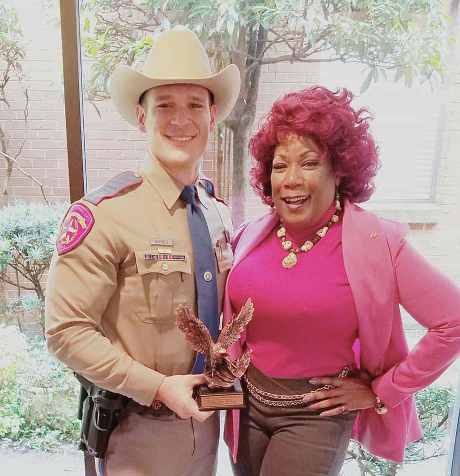 """Trooper Aaron """"Ty"""" Jones and Bess Gamble-Williams"""