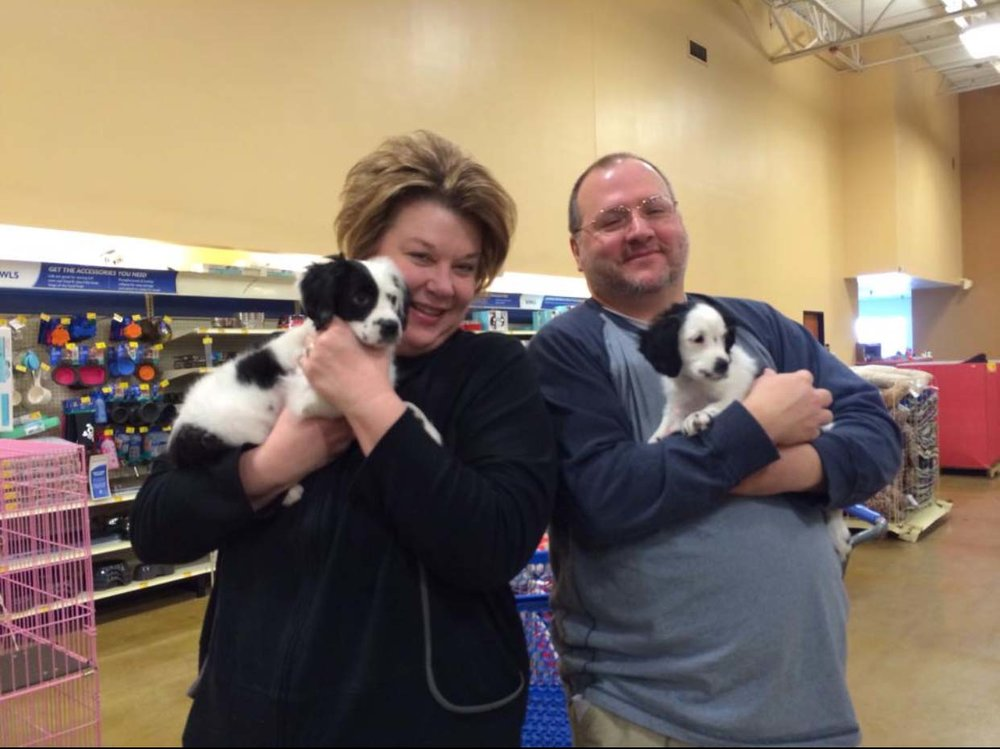 """Four years ago, Tina and James adopted their """"Goochie Girls"""" named """"Scout"""" and """"Willow."""""""