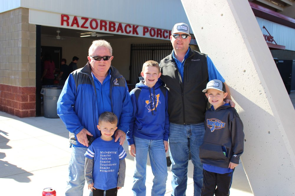 Jack Pearson and Knox Keopple with Easton, Mikey and Weston Lakin