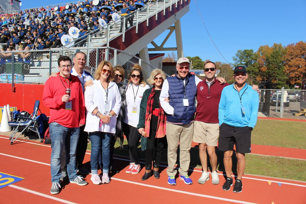 Hayden Fant, Robert and Gina Smith, Susan Bartlemay, Lindsey Thomas, LaCrecia and Dean Barry, Will Barry and Dr. Brian Barry