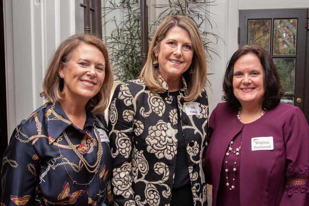 Megan Schroeder, Julie Tidwell and Virginia Trammell