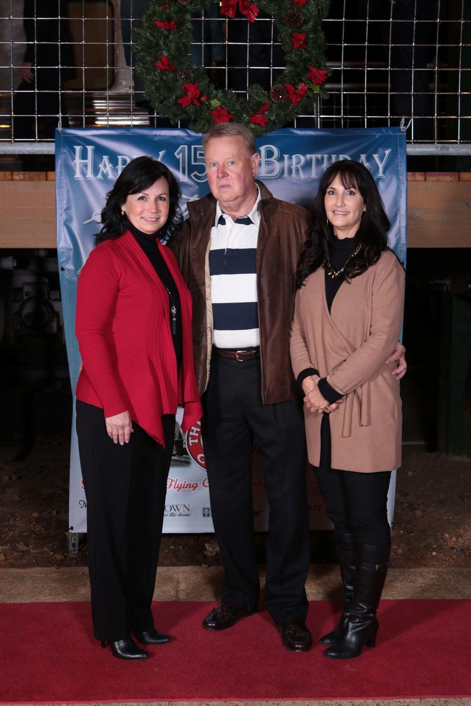 Judy Hardin, Chief Bob Harrison and Kathy Hardin