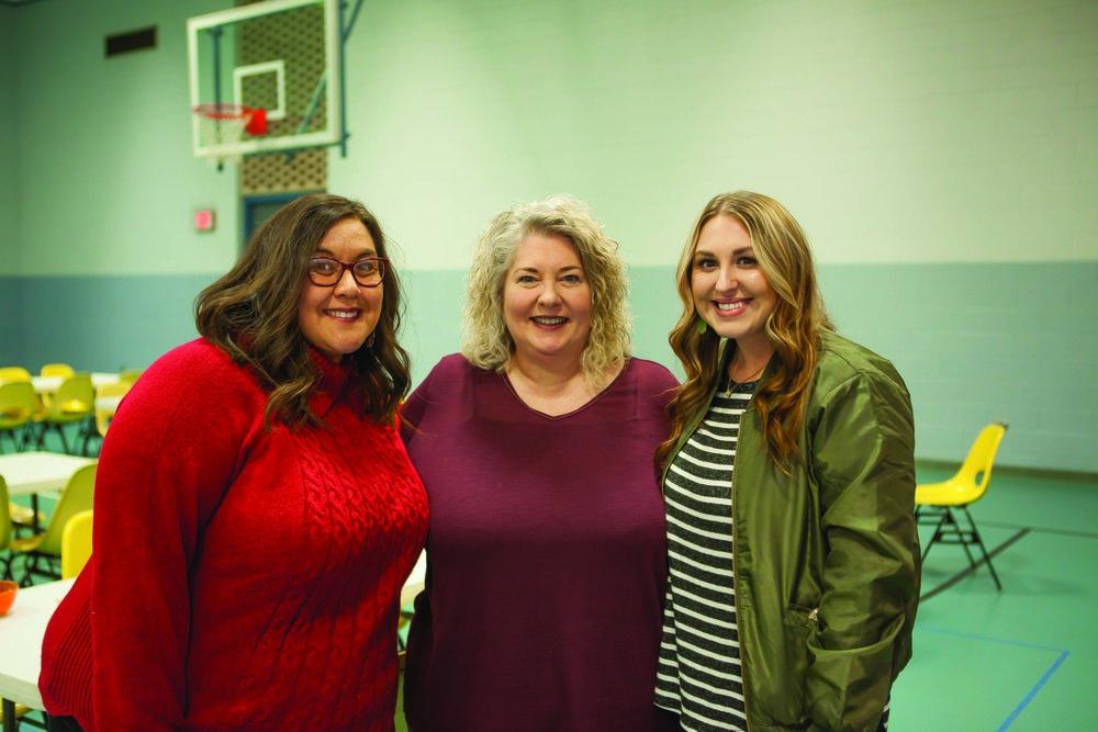 Barbara Walker, Suzy Turner and Brittney Cox