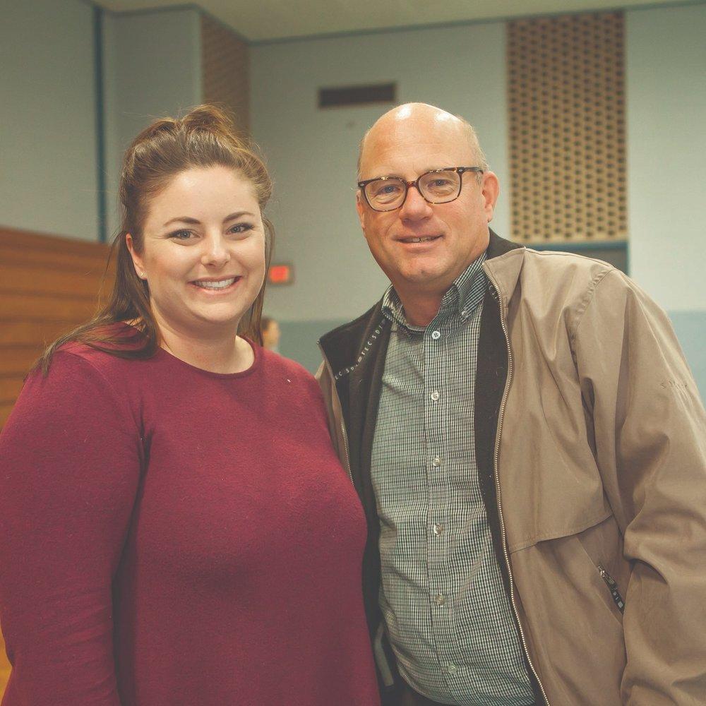 Natalie Haywood and Mayor Bob Bruggeman