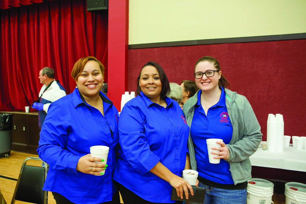 Bria Page, Jessica Bethel and Kayla Flovin