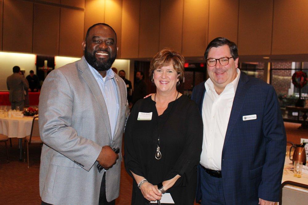 Charles Jordan, Trish Reed and Eric Cain