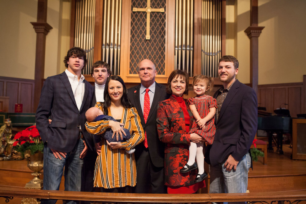 Peyton, Matt, Megan (holding Manning), Mayor Allen, Shelby, Sutton and Jared Brown