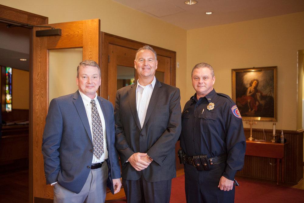 Joe Bennett, Dr. Matt Young and Lt. Scott Megason