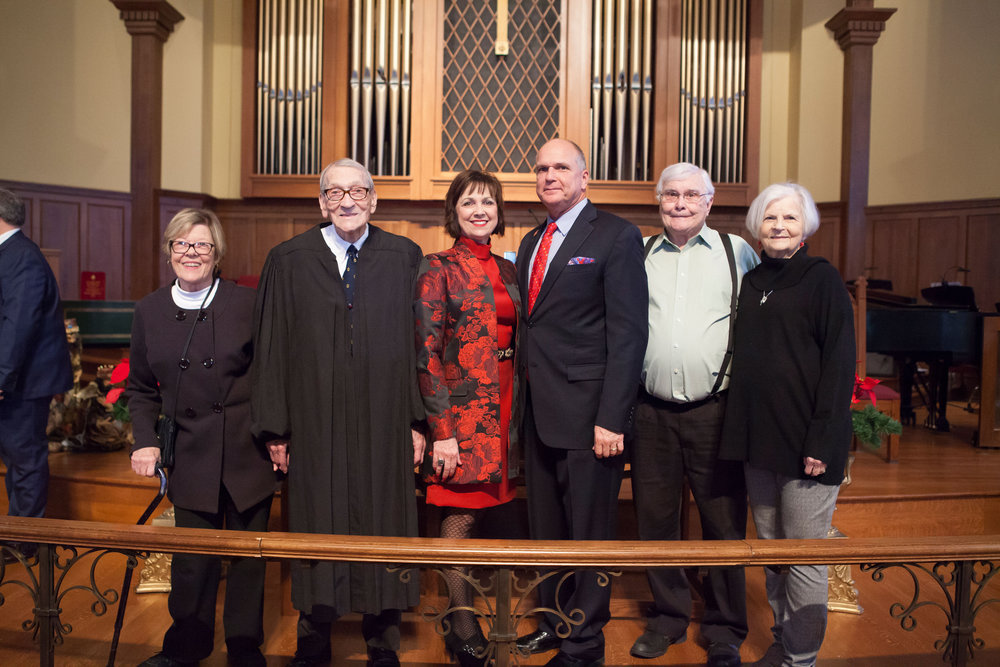 Marietta and Judge John Stroud, Shelby and Mayor Allen Brown and Jerry and Linda Brown