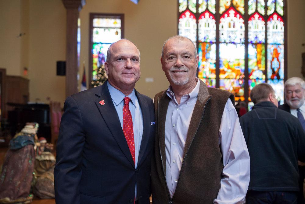 Mayor Allen Brown and Jerry Huckabee
