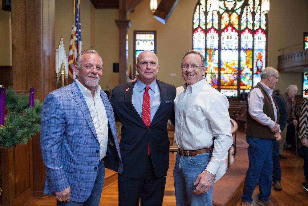 Van Alexander, Mayor Allen Brown and James Bramlett