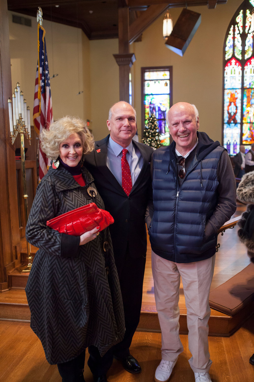 LaCrecia Barry, Mayor Allen Brown and Dean Barry