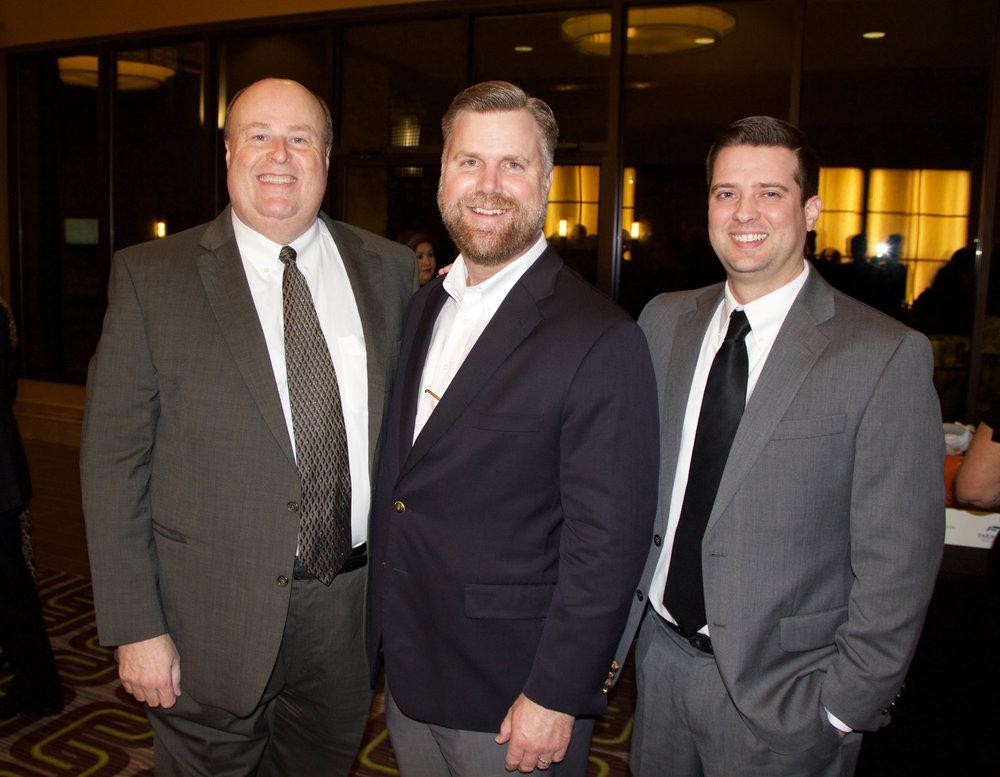 Jeff Harris, Justin White and Jordan Cox