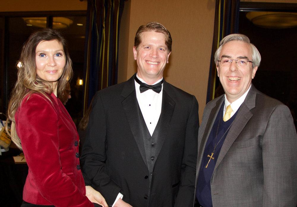 Tina and Curtis Schneekloth with Pastor Brad Morgan