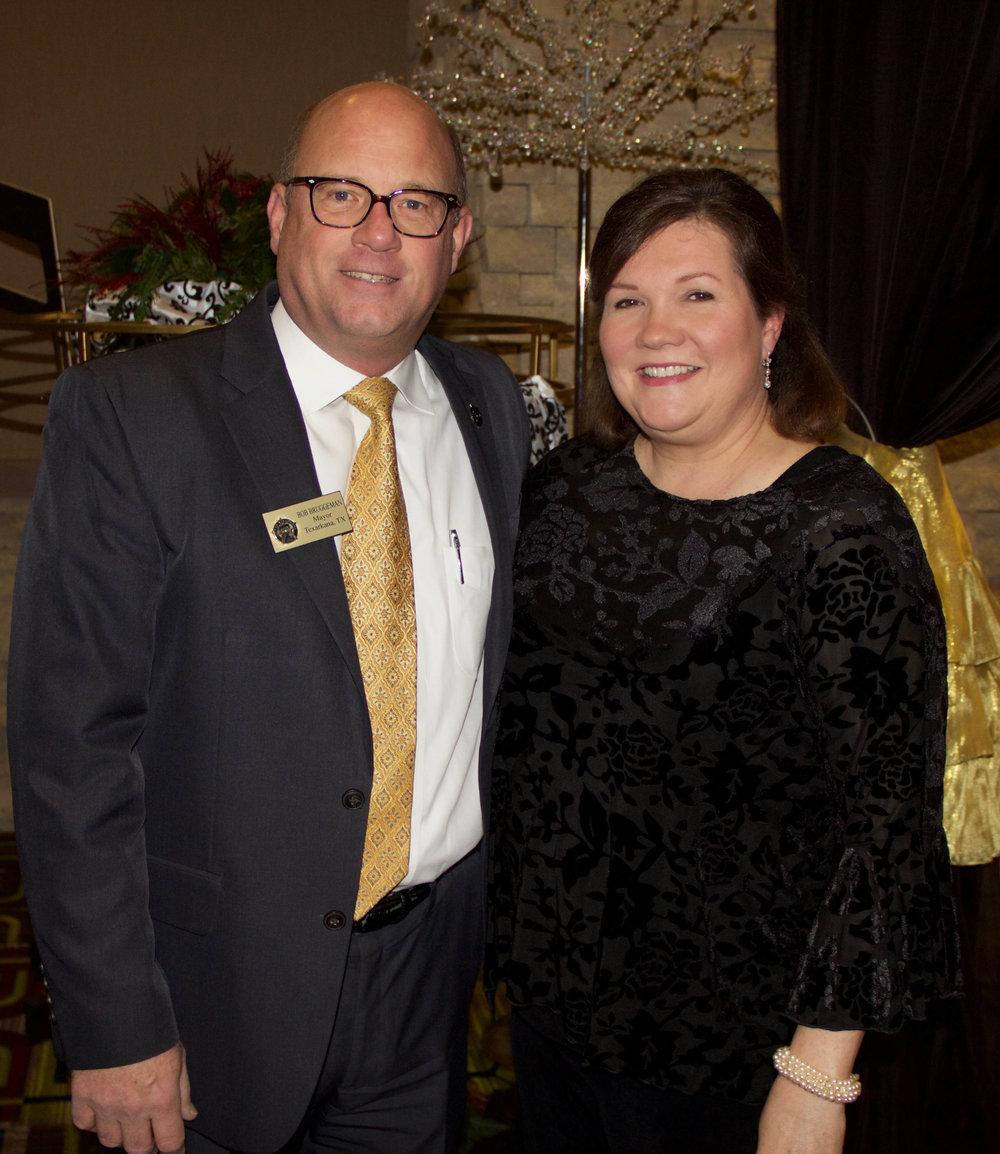 Mayor Bob and Jackie Bruggeman