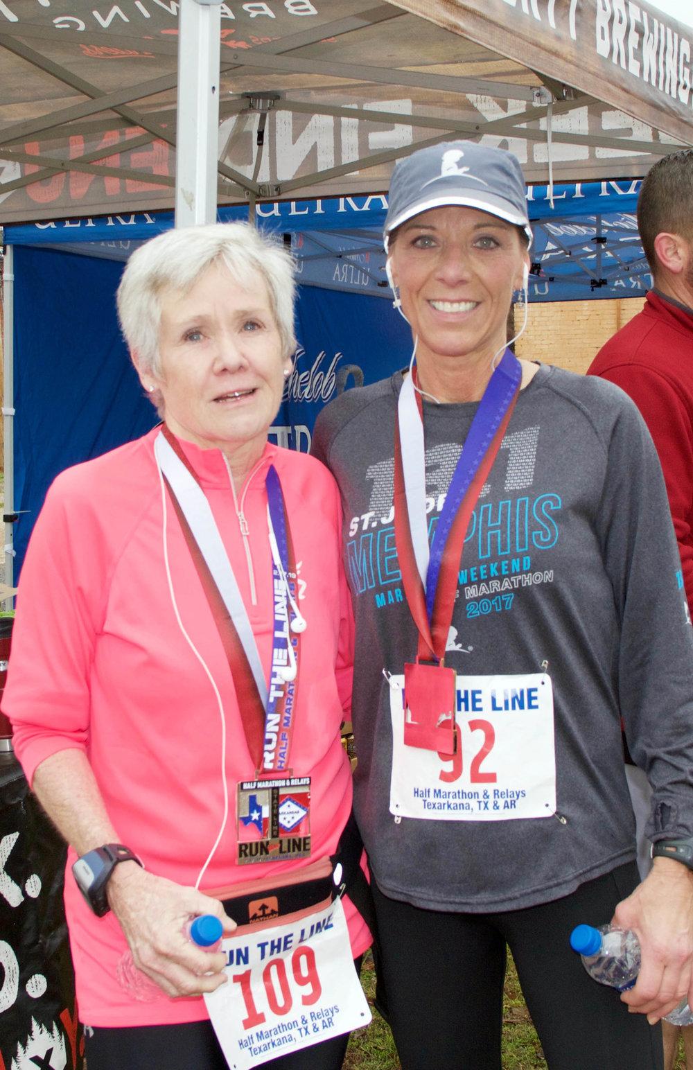 Kathy Stevens and Joyce Cates