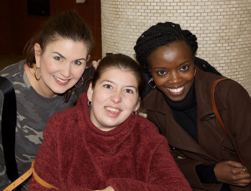 "Robin Rogers, Emily Orr and Immaculée ""Gabie"" Ingabire"