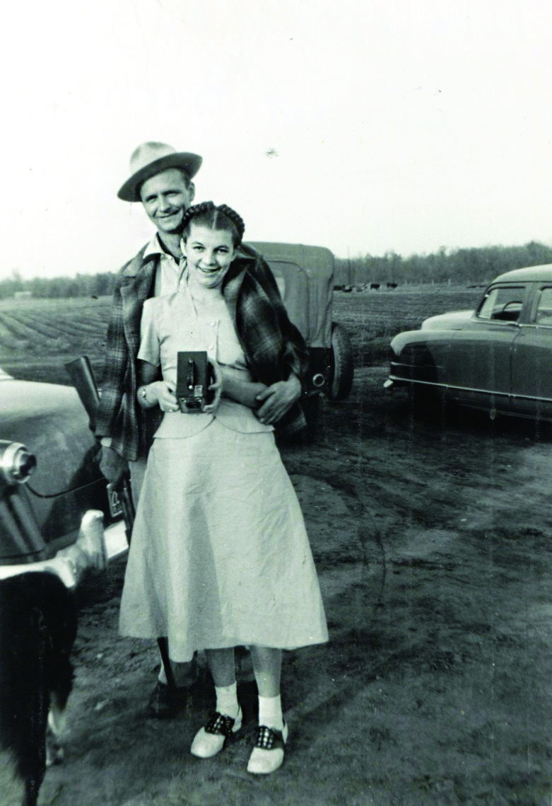Melvin and Janet the day before they married in 1952.