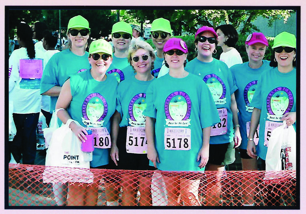 Several of the Bunco Babes attended the Race for the Cure® in Little Rock in the late '90s to experience the Race firsthand and see what it would take to bring a Race to Texarkana.