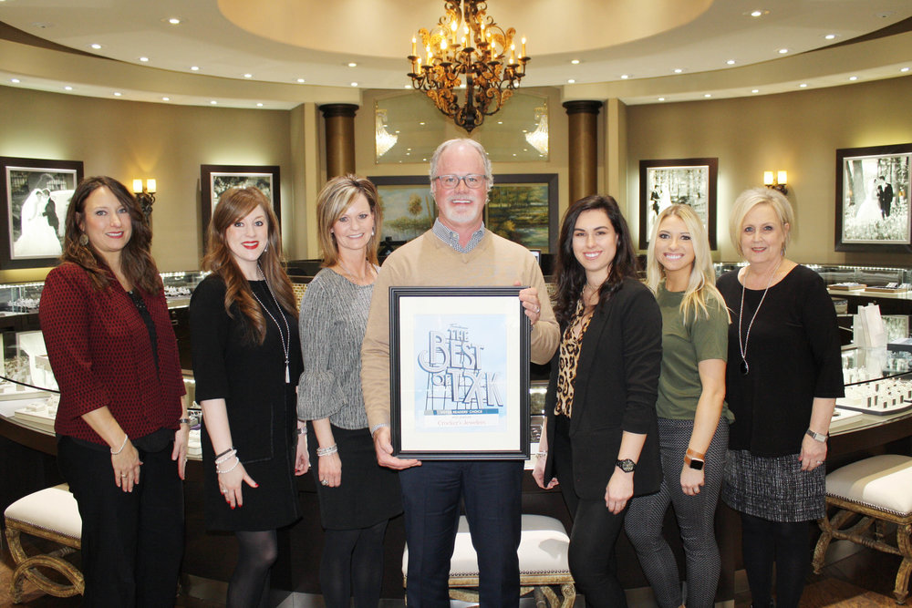CROCKER'S JEWELERS – Marion Criddle, Lauren Ponder, Melissa Douglass, Shane Woodruff, Shelby Purifoy, Holley Collins and Kathy Crutcher